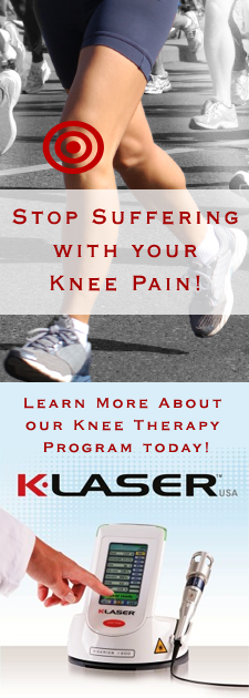klaser knee therapy at sierra tahoe wellness center, Reno NV